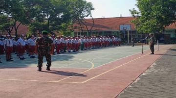 MOPDB 2019 - Kegiatan LBB(latihan Baris Berbaris) oleh Koramil
